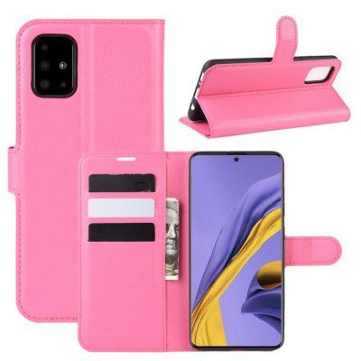 Samsung Galaxy A51 Kotelo PU-Nahka Pinkki