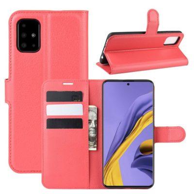 Samsung Galaxy A51 Kotelo PU-Nahka Punainen
