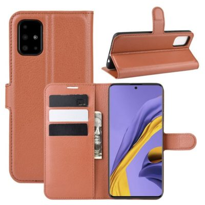 Samsung Galaxy A51 Kotelo PU-Nahka Ruskea