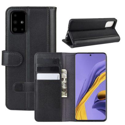 Samsung Galaxy A51 Nahkakotelo Musta
