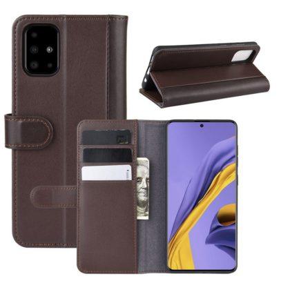 Samsung Galaxy A51 Nahkakotelo Tummanruskea