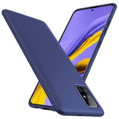 Samsung Galaxy A51 Suojakuori Silikoni Sininen