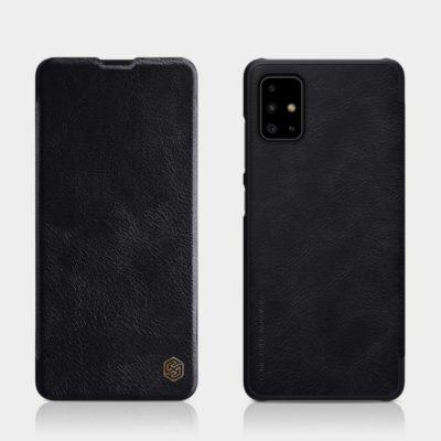 Samsung Galaxy A71 Kotelo Nillkin Qin Musta