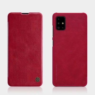 Samsung Galaxy A71 Kotelo Nillkin Qin Punainen