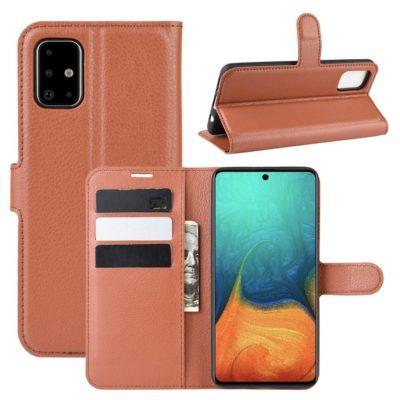 Samsung Galaxy A71 Suojakotelo PU-Nahka Ruskea