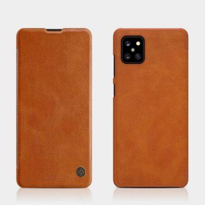 Samsung Galaxy Note 10 Lite Kotelo Nillkin Qin Ruskea