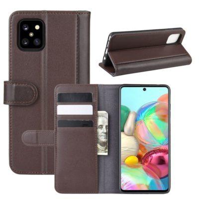 Samsung Galaxy Note 10 Lite Kotelo Ruskea Nahka