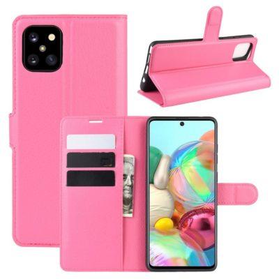 Samsung Galaxy Note 10 Lite Lompakkokotelo Pinkki
