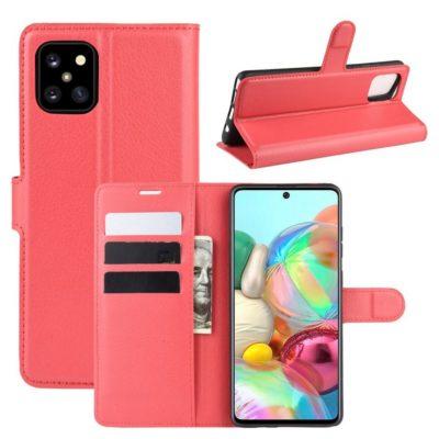 Samsung Galaxy Note 10 Lite Lompakkokotelo Punainen