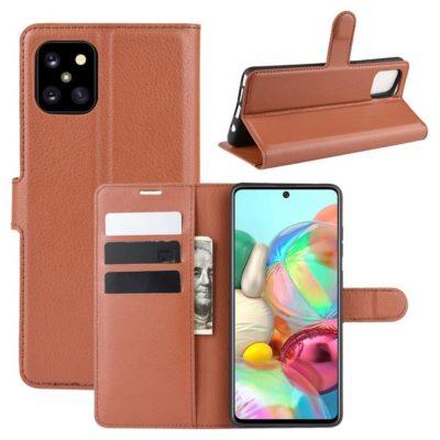 Samsung Galaxy Note 10 Lite Lompakkokotelo Ruskea