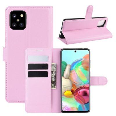 Samsung Galaxy Note 10 Lite Lompakkokotelo Vaaleanpunainen
