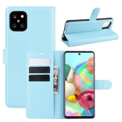 Samsung Galaxy Note 10 Lite Lompakkokotelo Vaaleansininen