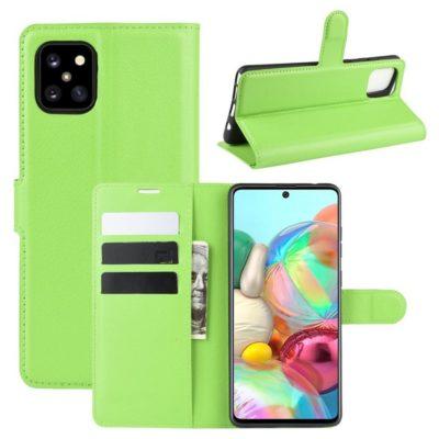 Samsung Galaxy Note 10 Lite Lompakkokotelo Vihreä