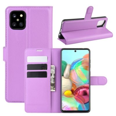 Samsung Galaxy Note 10 Lite Lompakkokotelo Violetti