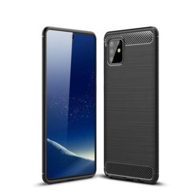 Samsung Galaxy Note 10 Lite Suojakuori Hiilikuitu Musta