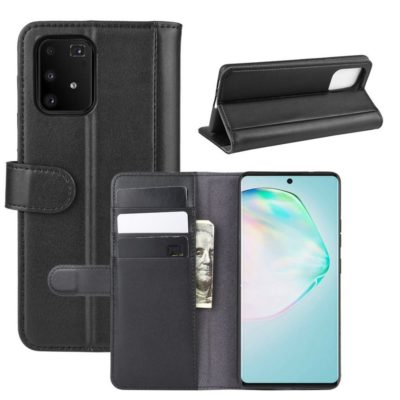 Samsung Galaxy S10 Lite Kotelo Musta Nahka