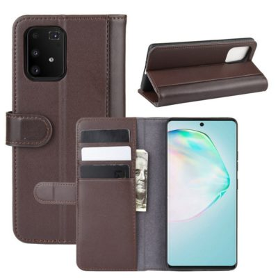 Samsung Galaxy S10 Lite Kotelo Ruskea Nahka
