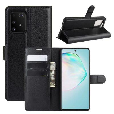 Samsung Galaxy S10 Lite Lompakkokotelo Musta