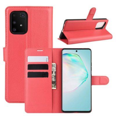 Samsung Galaxy S10 Lite Lompakkokotelo Punainen