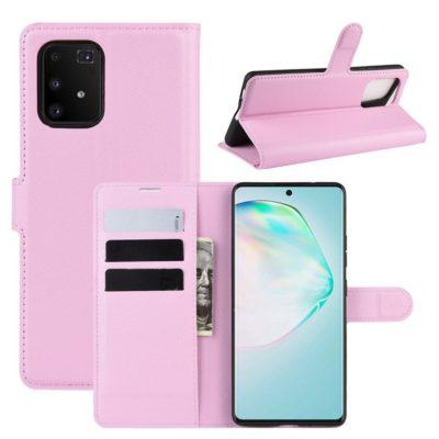 Samsung Galaxy S10 Lite Lompakkokotelo Vaaleanpunainen