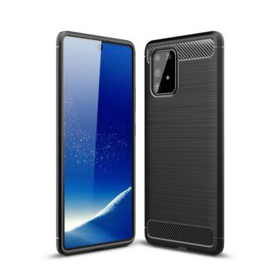 Samsung Galaxy S10 Lite Suojakuori Hiilikuitu Musta