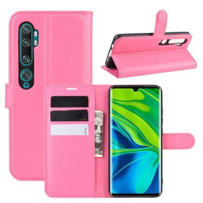 Xiaomi Mi Note 10 Kotelo PU-Nahka Pinkki