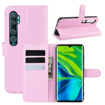 Xiaomi Mi Note 10 Kotelo PU-Nahka Vaaleanpunainen
