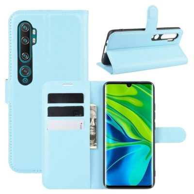 Xiaomi Mi Note 10 Kotelo PU-Nahka Vaaleansininen