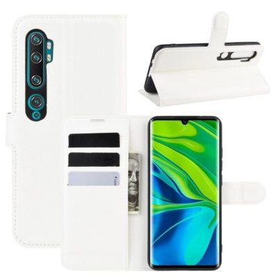 Xiaomi Mi Note 10 Kotelo PU-Nahka Valkoinen