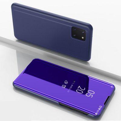 Samsung Galaxy Note 10 Lite Kotelo Peilipinta Tummansininen