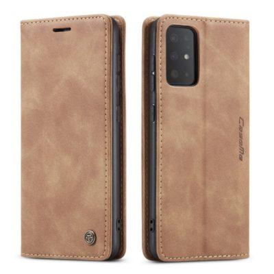 Samsung Galaxy S20 5G Kotelo Caseme Vaaleanruskea