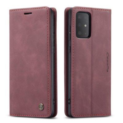 Samsung Galaxy S20 5G Kotelo Caseme Viininpunainen