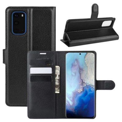 Samsung Galaxy S20 5G Kotelo PU-Nahka Musta
