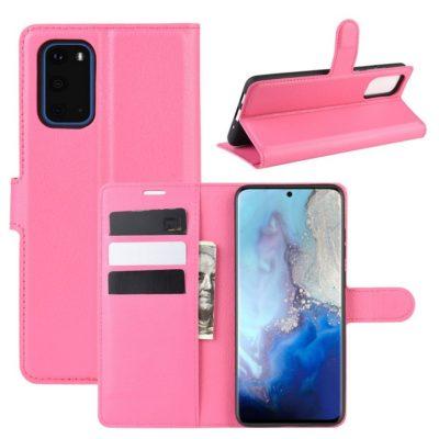 Samsung Galaxy S20 5G Kotelo PU-Nahka Pinkki