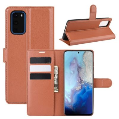 Samsung Galaxy S20 5G Kotelo PU-Nahka Ruskea