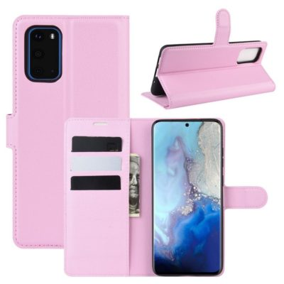 Samsung Galaxy S20 5G Kotelo PU-Nahka Vaaleanpunainen