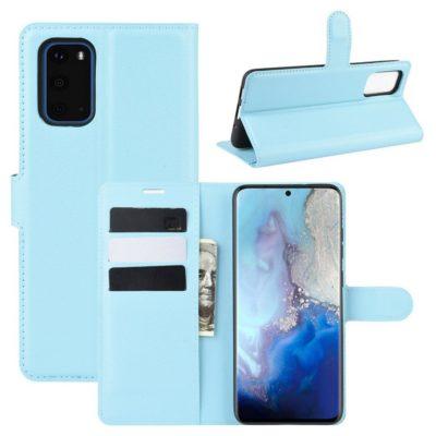 Samsung Galaxy S20 5G Kotelo PU-Nahka Vaaleansininen