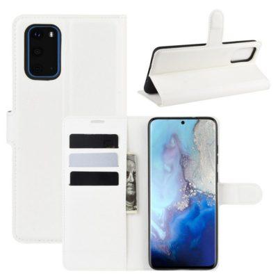 Samsung Galaxy S20 5G Kotelo PU-Nahka Valkoinen