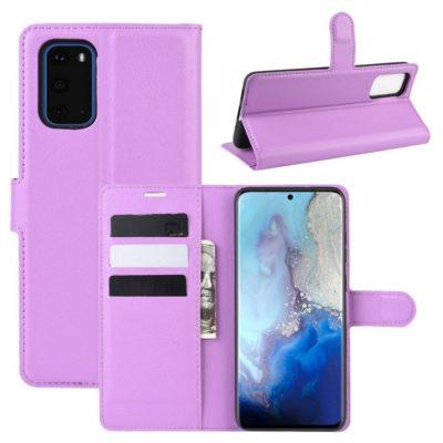 Samsung Galaxy S20 5G Kotelo PU-Nahka Violetti