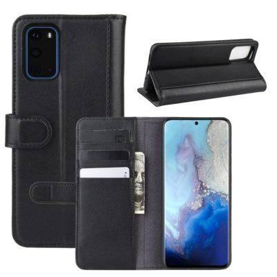 Samsung Galaxy S20 5G Suojakotelo Musta Nahka