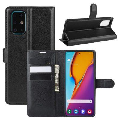 Samsung Galaxy S20+ 5G Kotelo PU-Nahka Musta