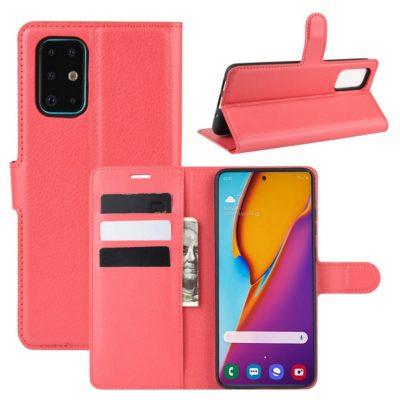 Samsung Galaxy S20+ 5G Kotelo PU-Nahka Punainen
