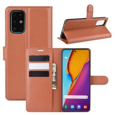 Samsung Galaxy S20+ 5G Kotelo PU-Nahka Ruskea