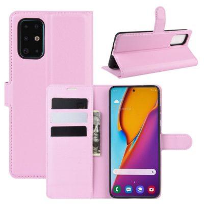 Samsung Galaxy S20+ 5G Kotelo PU-Nahka Vaaleanpunainen