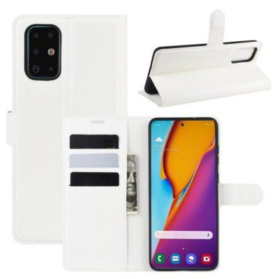 Samsung Galaxy S20+ 5G Kotelo PU-Nahka Valkoinen