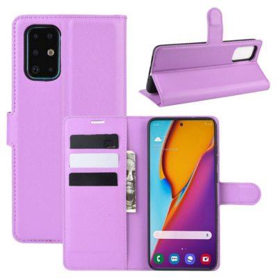 Samsung Galaxy S20+ 5G Kotelo PU-Nahka Violetti