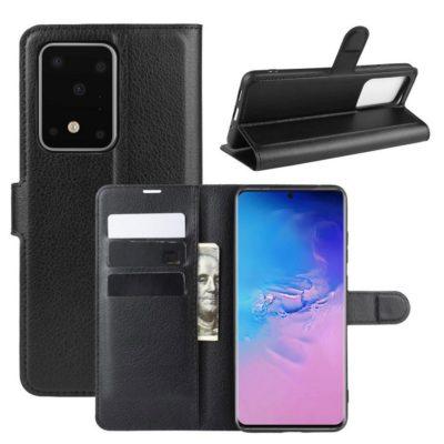 Samsung Galaxy S20 Ultra 5G Kotelo PU-Nahka Musta