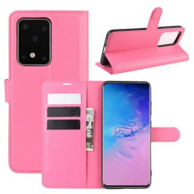 Samsung Galaxy S20 Ultra 5G Kotelo PU-Nahka Pinkki