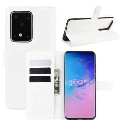Samsung Galaxy S20 Ultra 5G Kotelo PU-Nahka Valkoinen