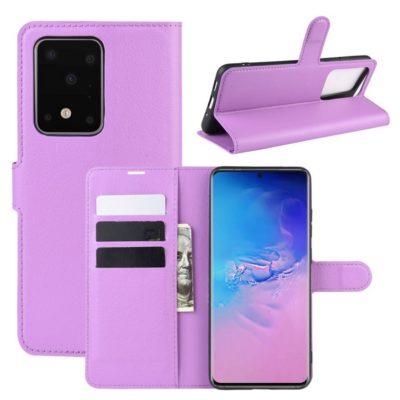 Samsung Galaxy S20 Ultra 5G Kotelo PU-Nahka Violetti